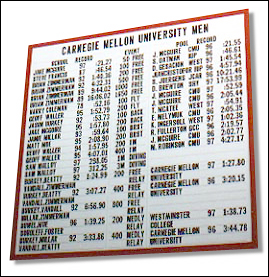 College team-only records boards DuraTrack 3 and 3/4 inch