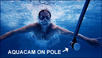 AquaCam underwater shot with pole
