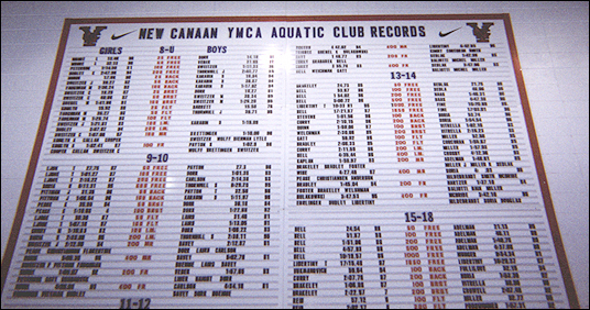 Age group eight-panel DuraTrack records boards