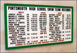 High School team-only records boards - 1 and 3/4 inch